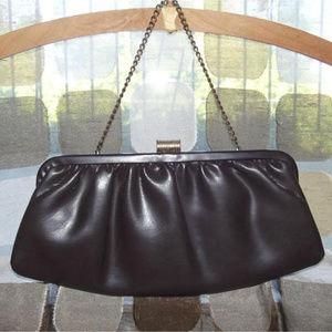 Vintage 50s Brown Clutch Purse Handbag MCM